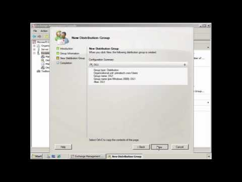 Create a New Distribution Group in Exchange 2007