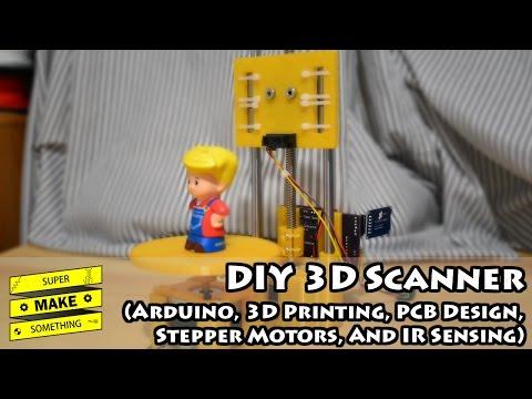 DIY 3D Scanner (Arduino, 3D Printing, PCB Design, Stepper Motors, IR Sensing) - Super Make Something