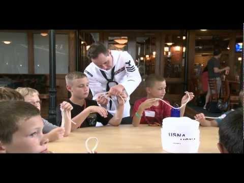 Children Attend Navy Way Boot Camp aboard U.S. Naval Academy