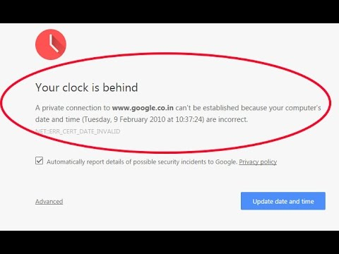 How to fix clock error