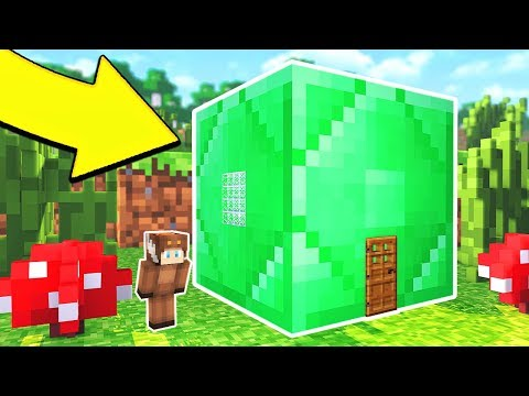 HOW TO LIVE INSIDE EMERALD BLOCK IN MINECRAFT (POCKET EDITION)
