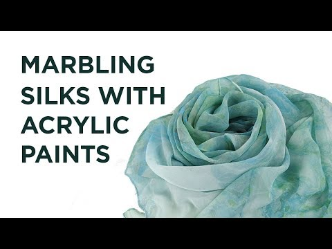 Marbling Silk Scarves with Acrylic Paints