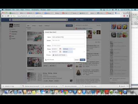 How to set up A Facebook Event with Date Range