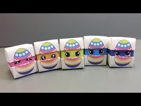 Origami Changing Faces Easter Egg Cube - Print at Home