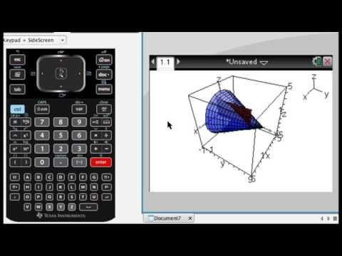 Graphing a Parametric Surface on TI-Nspire