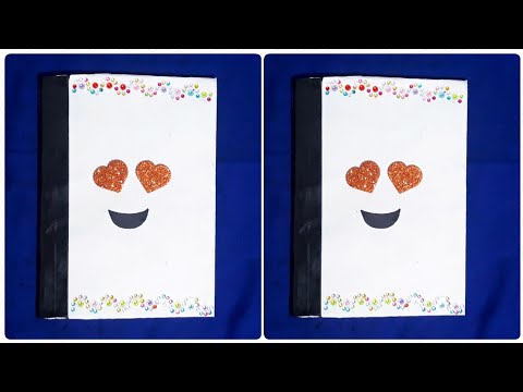 notebook design idea easy simple| how to make notebook covers at home |notebook cover design drawing