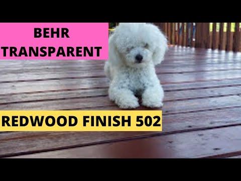 Behr Transparent Redwood Finish 502 - Staining My Wooden Deck (DIY)