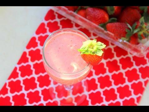 Strawberry Milkshake  സ്ട്രോബെറി മിൽക്ക് ഷേക്ക്