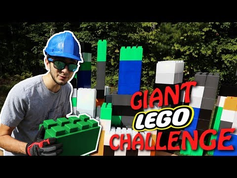 GIANT LEGO BUILD CHALLENGE! (Real Life GIANT BUILDING BLOCKS)