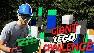 GIANT LEGO BUILD CHALLENGE! (Real Life GIANT BUILDING BLOCKS)