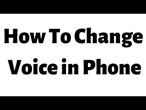 How To Change Your Voice in Andorid phone and record