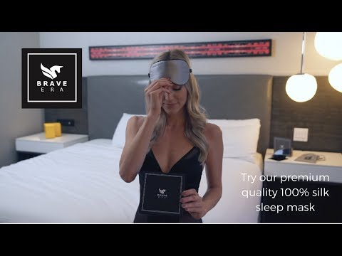 BRAVE ERA's 100% Silk Sleep Mask with Compact Travel Pouch and Luxury Gift Box