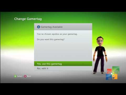 Change Xbox 360 Gamertag by using MS Points