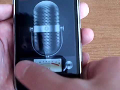 Voice Memos - iPhone 3GS