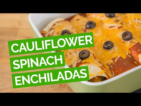 Cauliflower Spinach Enchilada Recipe (Vegetarian)