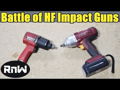 Best and Cheapest Entry Level Impact Wrenches - Air Impact Gun vs Cordless Gun by Harbor Freight