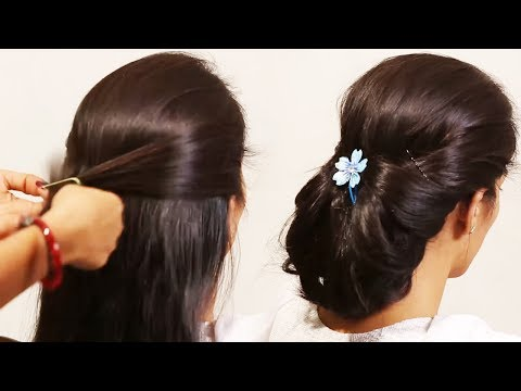 Simple Hairstyle Beautiful | Front Puff With Fishtail Braid | Girls Hair Style