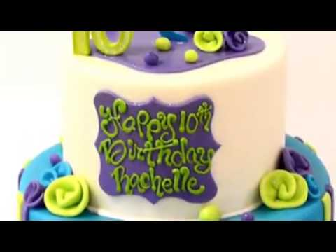 How to make cake Birthday Cake design in blue and green