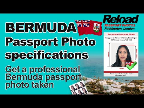 Get your Bermuda Passport Photo or Visa Photo snapped in Paddington, London