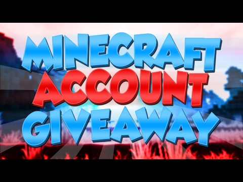 DOUBLE MINECRAFT ACCOUNT GIVEAWAY!!