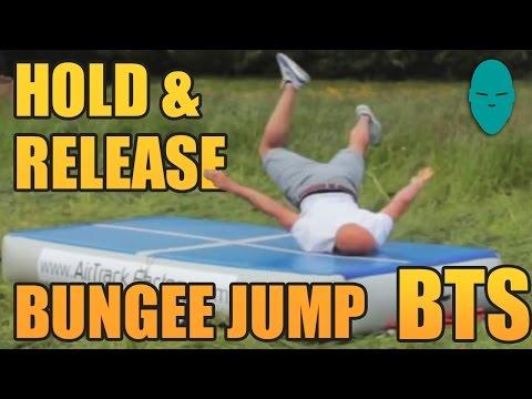 Hold & Release Bungee Jump Behind the Scenes | Damien Walters