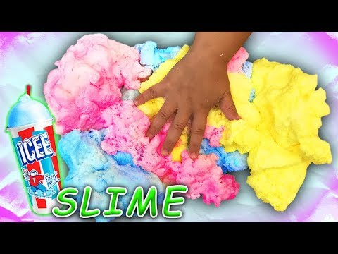 Rainbow Icee Slime with 1 gallon of glue! Cotton Cloud Slime Recipe