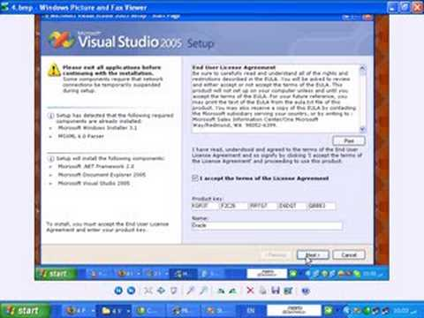 Learn C# 1 : install Visual Studio 2005