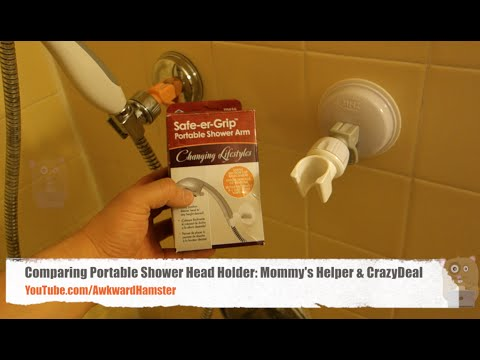 Comparing Portable Shower Head Holder: Mommy's Helper & CrazyDeal