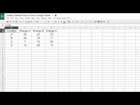 Google Sheets - Create a Stacked Column Chart