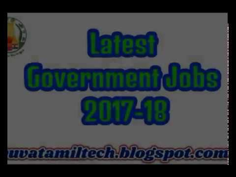 Latest Tamilnadu Government jobs offers