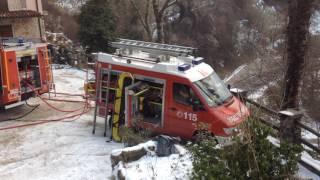 15 gennaio 2017 - incendio a Famea di Casto
