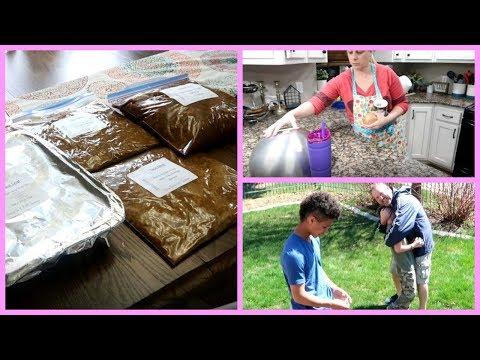 Freezer Meal Prep Day & Family FUN | Housewife Life