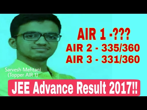 JEE Advance Result 2017! Know who tops this time! JEE Advance Topper