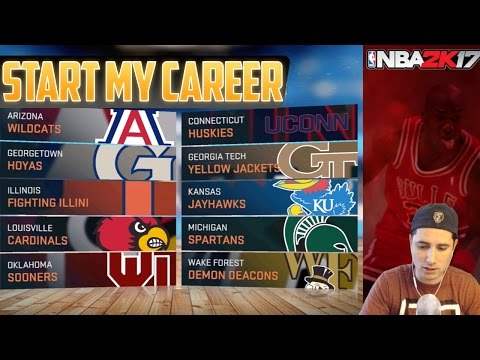 NBA 2K17 - START MY CAREER - iOS & Android Gameplay - Pick Position & College