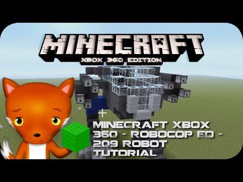 MineCraft Xbox 360 - Robocop ED - 209 Robot Tutorial