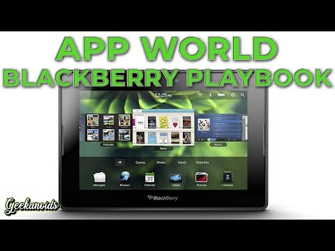 Blackberry Playbook App World