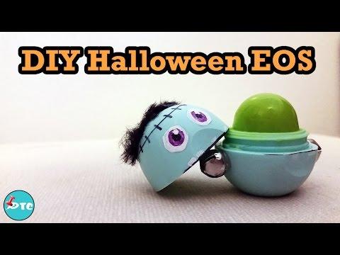 How to make a Halloween Frankenstein EOS lip balm