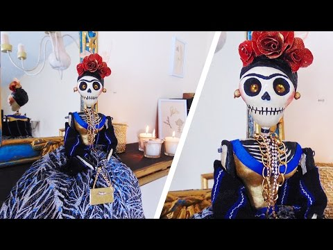 PAPER DOLL  FRIDA SKULL DIY