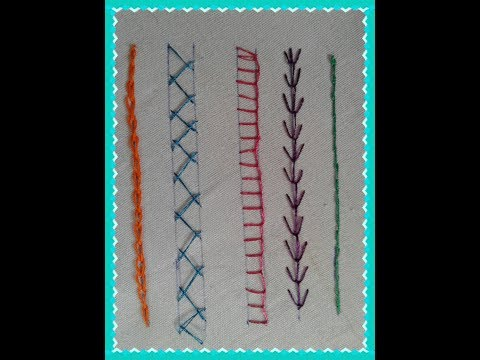 Basic Embroidery Stitches for Beginners Part 1 | Hand Embroidery