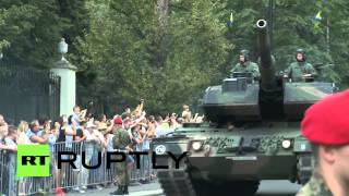 Poland: U.S. military march outside Russian embassy on Armed Forces Day