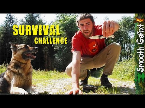 Survival: 24 hour challenge with EDC Pocket Knife!