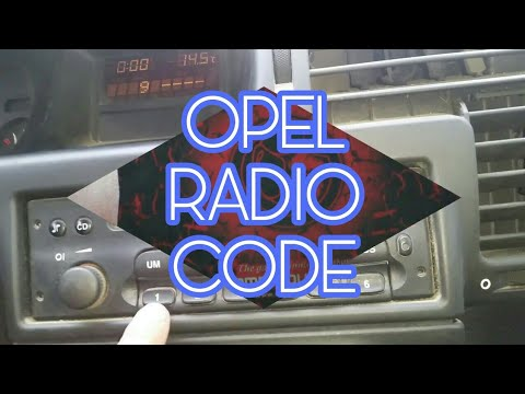How to enter the radio code on all Vauxhall Opel cars VDO CDR 500