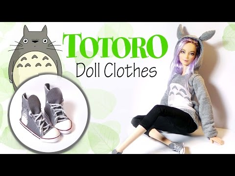 How To Make: TOTORO Hoodie & Sneakers - Doll Shirt & Shoe Tutorial
