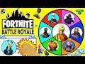 Fortnite Battle Royale SPINNING WHEEL SLIME GAME W Moose Fortnite Figures Surprise Toys