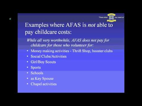 Air Force Aid Society - Child Care for PCS