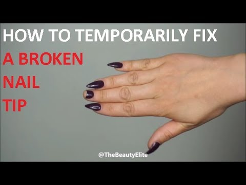 HOW TO | Temporarily fix a broken acrylic nail tip | At home remedy