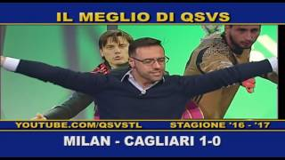 QSVS - I GOL DI MILAN - CAGLIARI 1-0  TELELOMBARDIA / TOP CALCIO 24