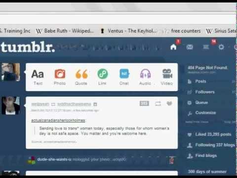 Automatic Unfollow Tumblr Script. Hack