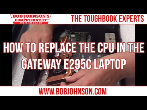 How to replace the CPU in the Gateway E295C Laptop