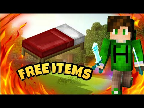 HOW TO GET FREE ITEMS IN LIFEBOAT MCPE BEDWARS!